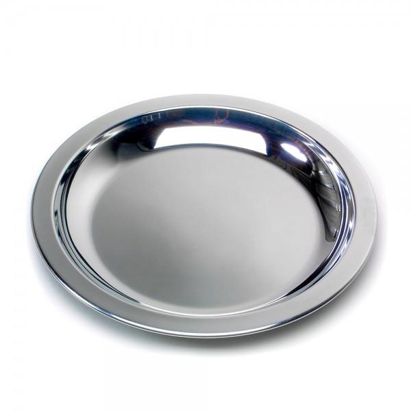 Edelstahl-Teller flach 23 cm