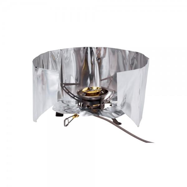 Windschutz und Hitzereflektor