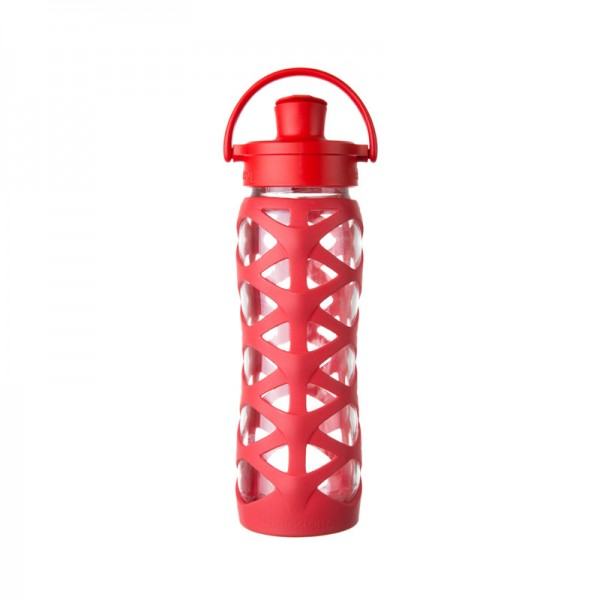 Glas Trinkflasche Active Flip Cap
