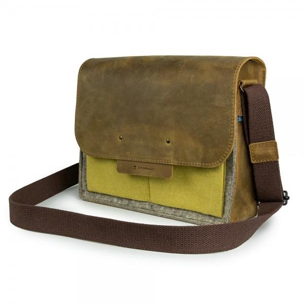 Postillon Leder/Filz-Tasche