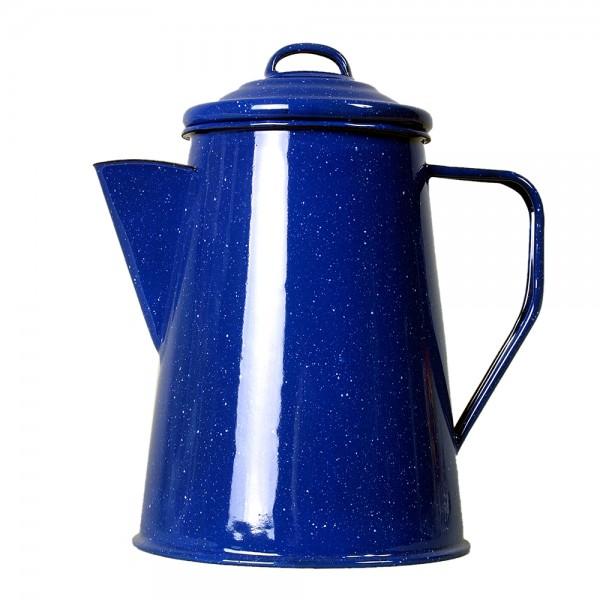 Emaille Kaffeekanne blau 6 Tassen